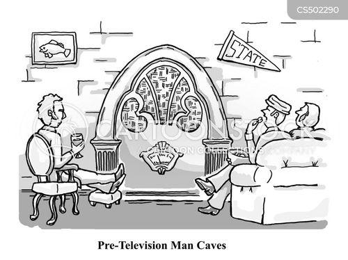 man-cave cartoon
