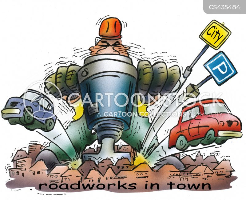 Road-work cartoons, Road-work cartoon, funny, Road-work picture, Road-work pictures, Road-work image, Road-work images, Road-work illustration, Road-work illustrations