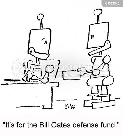 defense fund cartoon