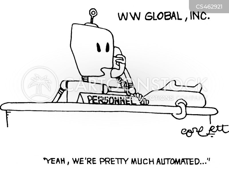 automated system cartoon