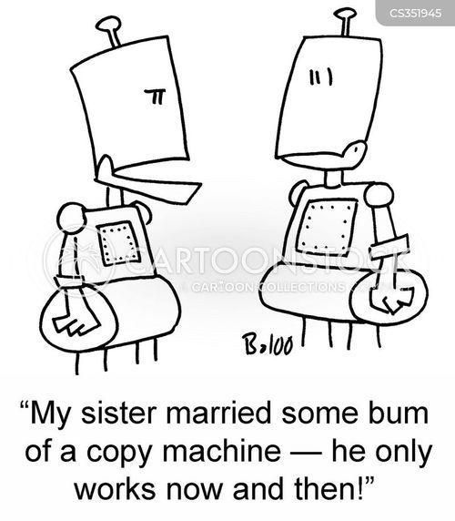 photo copiers cartoon