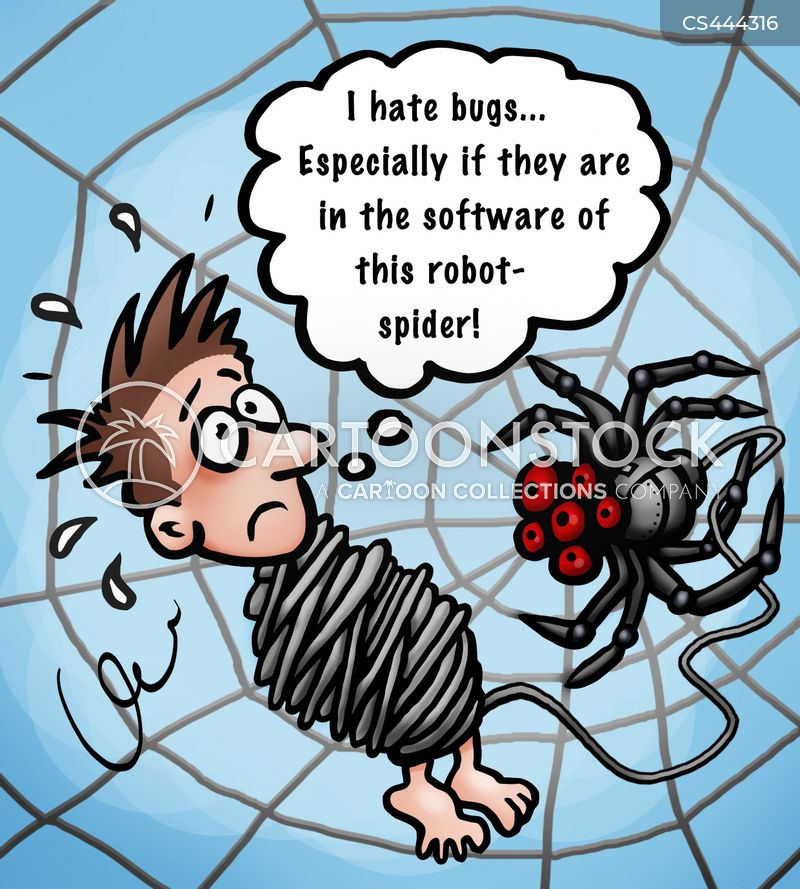 spider phobia cartoon