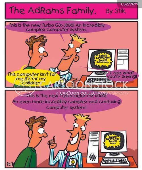 hi tech cartoon