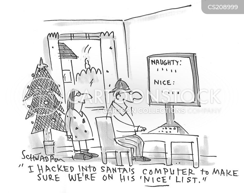naughty of nice list cartoon