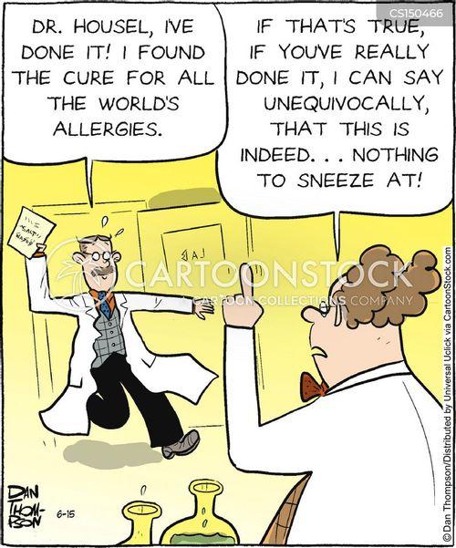 allergic cartoon