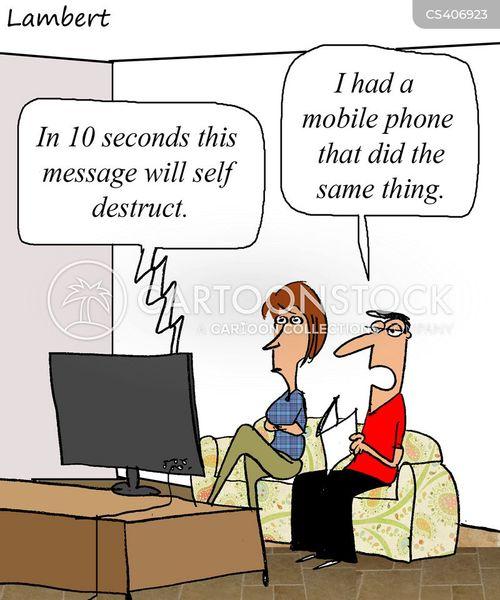 self destruction cartoon