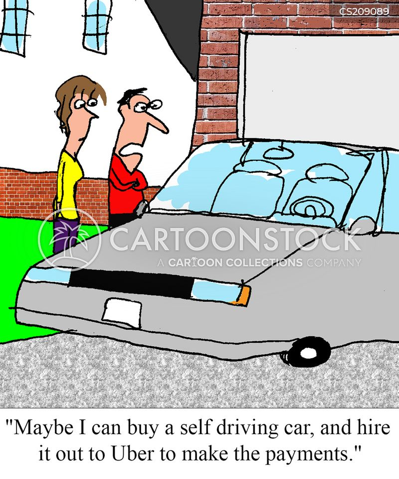 autonomous car cartoon