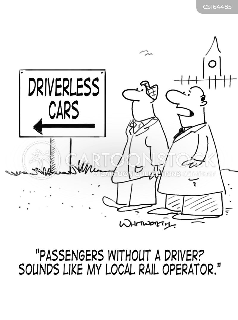 driverless cars cartoon