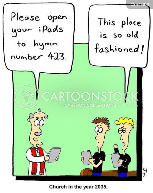 technology addictions cartoon