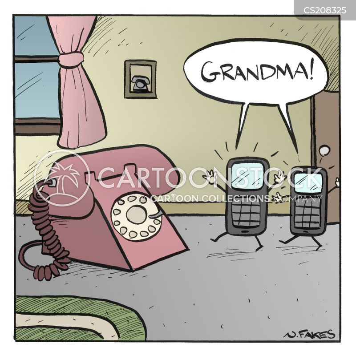 landline cartoon
