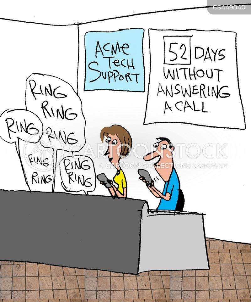 calling in cartoon