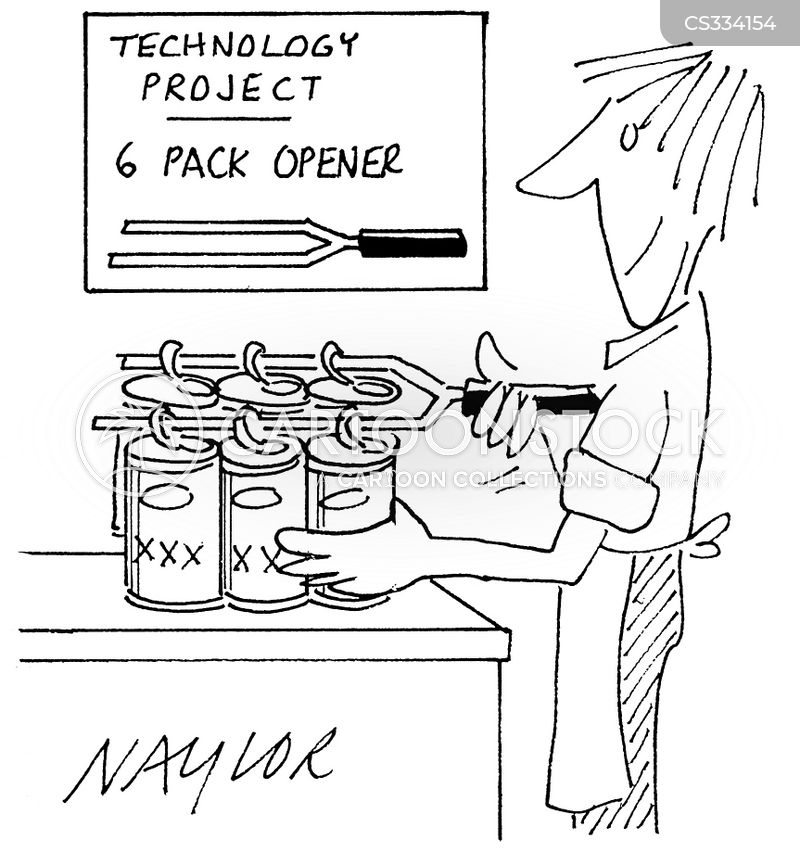 technology projects cartoon