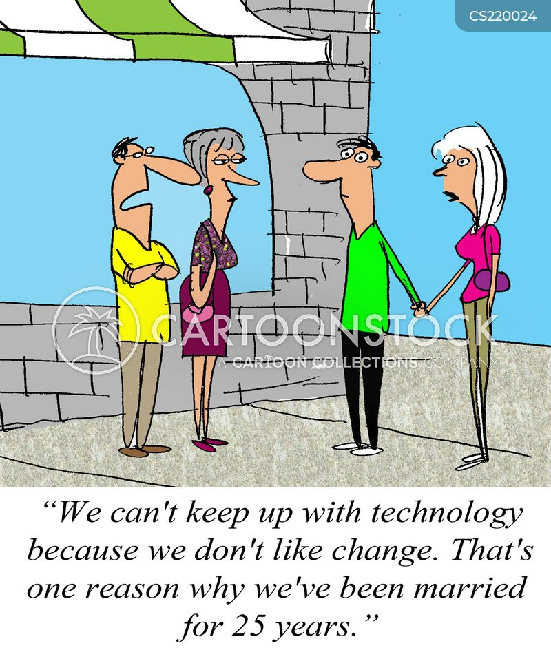 dealing with change cartoon