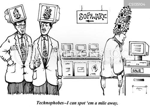 electronics shop cartoon