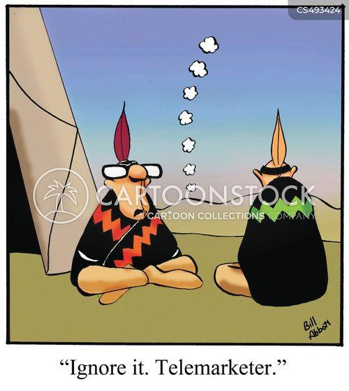 telemarketed cartoon