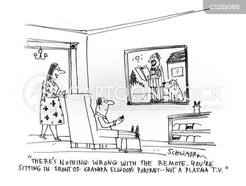 plasma tv cartoon