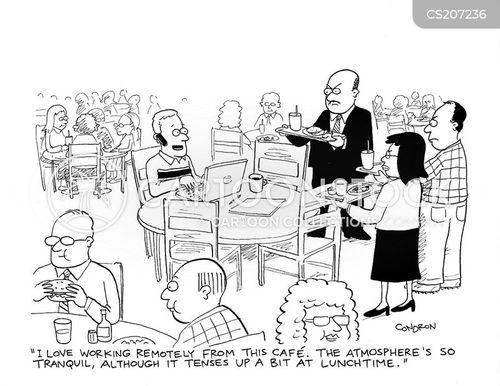 remote office cartoon