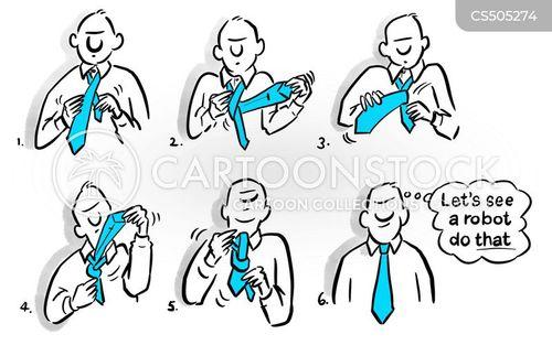 tying cartoon