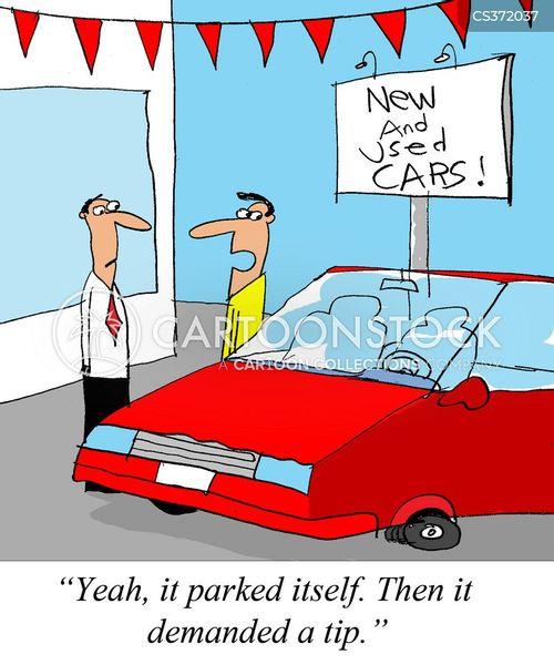 valet services cartoon