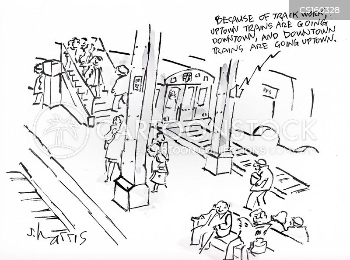 train stations cartoon