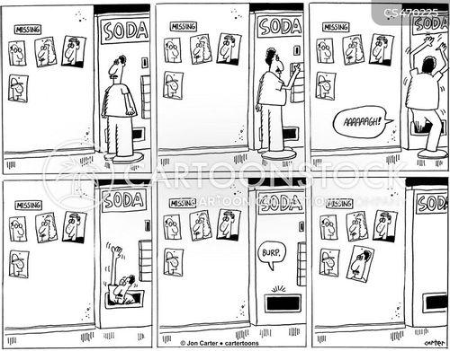 soda machine cartoon