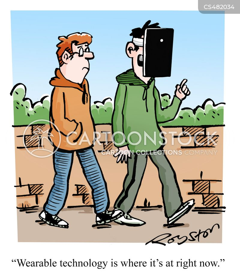 wearable technologies cartoon