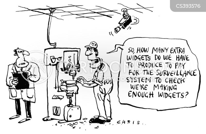 surveillance system cartoon