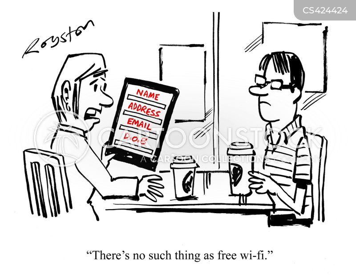 free wifi cartoon