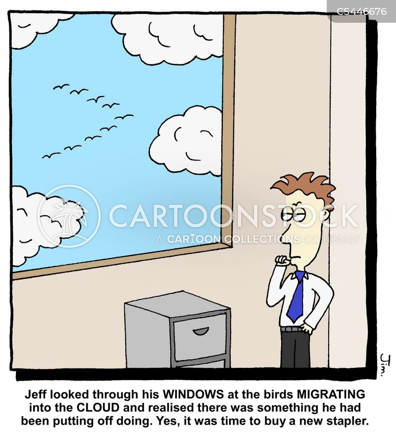 cloud technologies cartoon