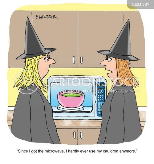 microwaving cartoon
