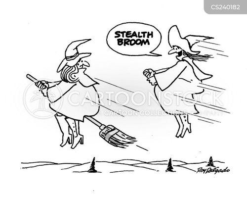 broom sticks cartoon