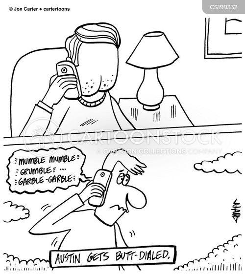 butt dial cartoon