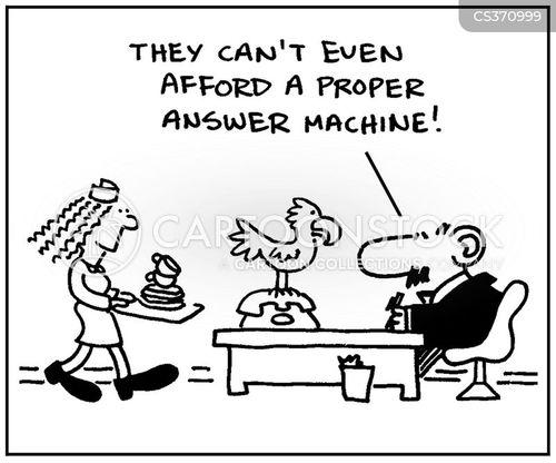 answer machines cartoon