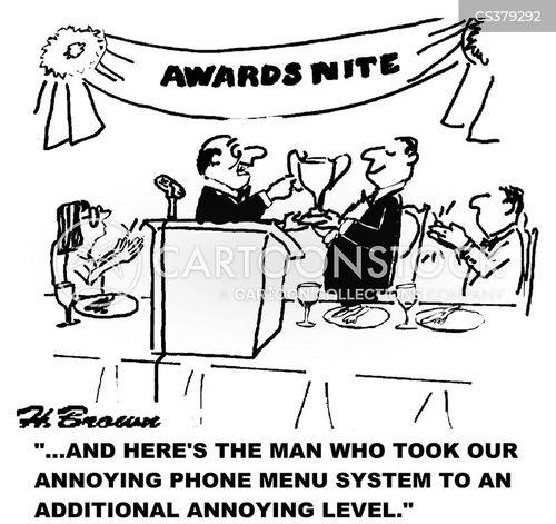 phone menu cartoon