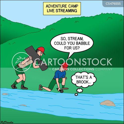 babbling brook cartoon
