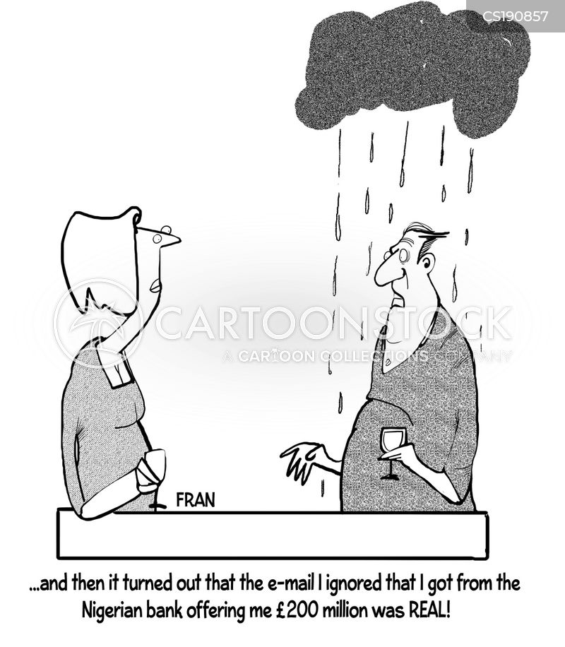 email scam cartoon