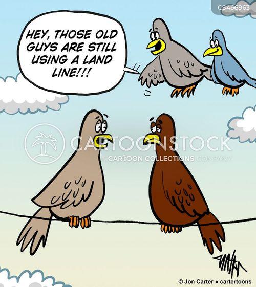 phone wire cartoon