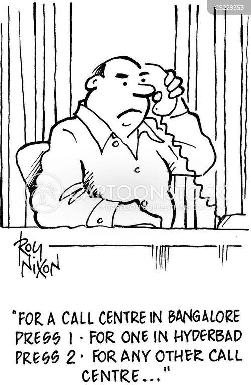 indian call centres cartoon