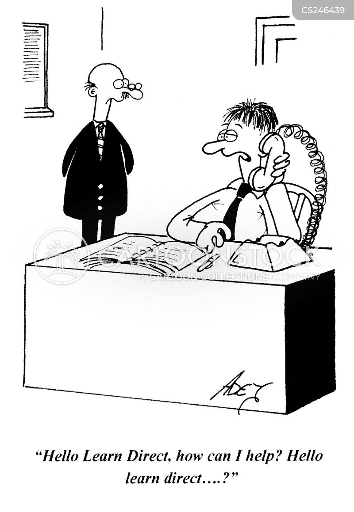 adult education centre cartoon