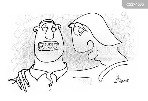 gagging cartoon