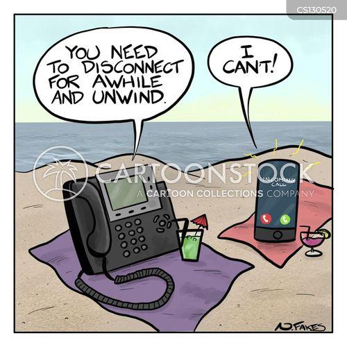 disconnect cartoon
