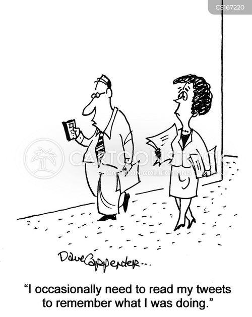 memory loss cartoon