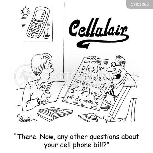 cell phone bill cartoon