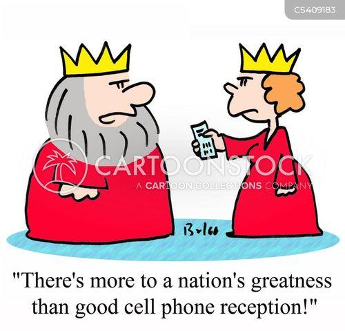 phone reception cartoon