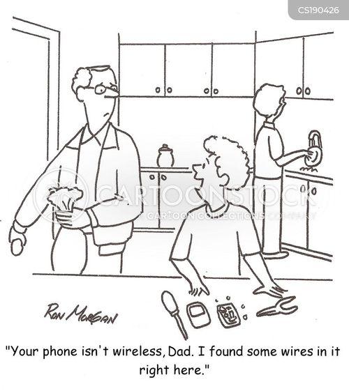 wireless network cartoon