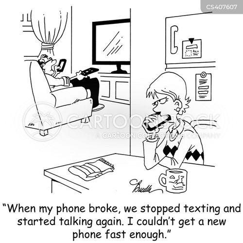 texted cartoon