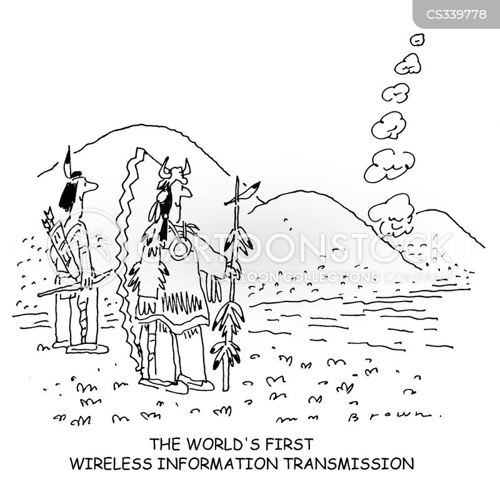 wireless transmission cartoons and comics