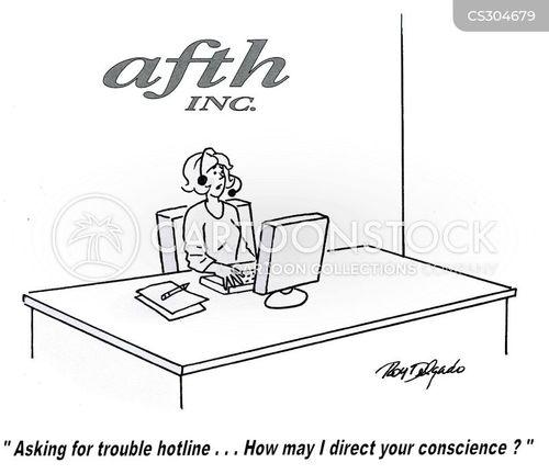 suicide hotline cartoon