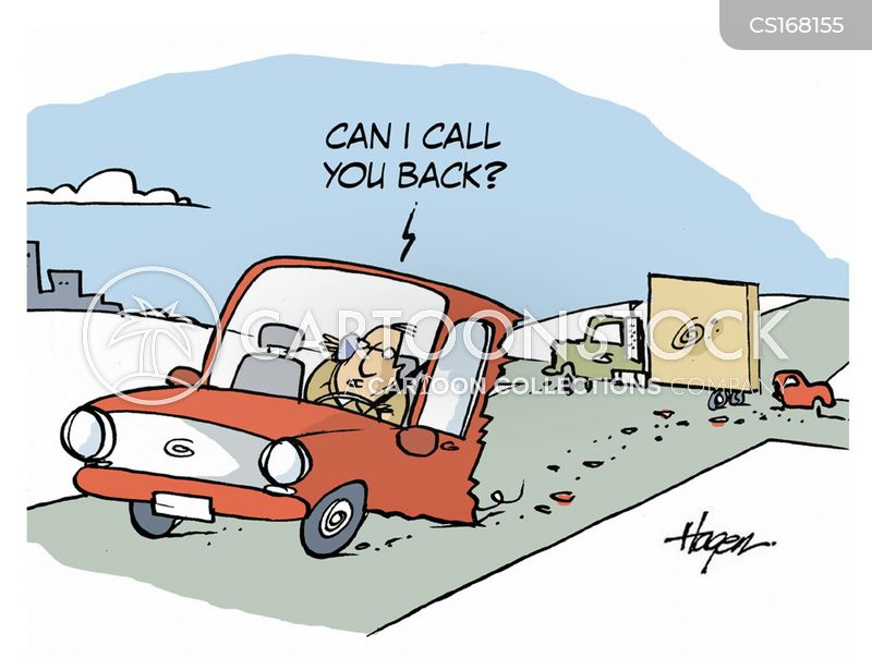 bad drivers cartoon