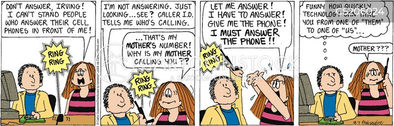caller id cartoon